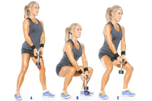 Упражнения с гантелями на грудь дома