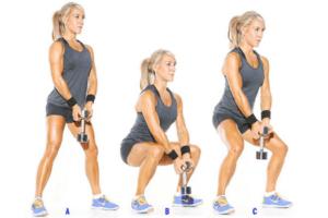 Прокачка ягодиц: упражнения с гантелями и утяжелителями