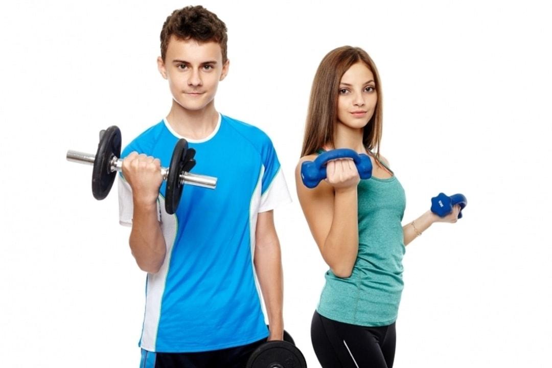 Упражнения с гантелями для подростков