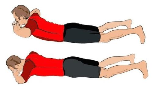 Подъем корпуса с руками за головой